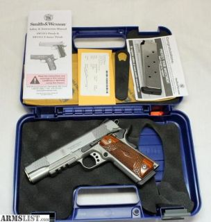 For Sale: Smith & Wesson SW1911TA semi-automatic pistol ~ .45ACP ~ Box, Papers TACTICAL 1911