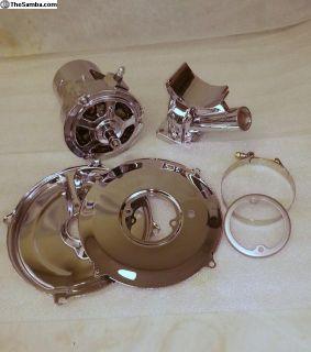 New 12volt 60 amp Chrome Alternator kit