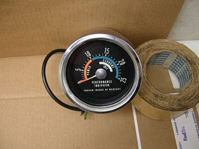 Purchase NOS 1966 - 69 MOPAR ORIG FACTORY CONSOLE VACUUM GAUGE & CUP DODGE PLYMOUTH HEMI motorcycle in West Salem, Ohio, United States, for US $799.95