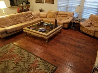 Sectional, Oversized Chair, Coffee Table