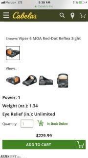 For Sale: Vortex viper red dot