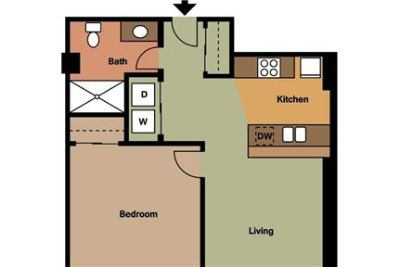 2 bedrooms - must see to believe. Covered parking!