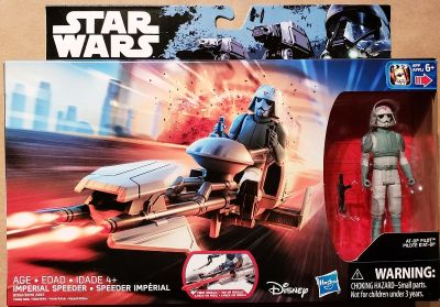 Star Wars Imperial Speeder with AT-DP pilot