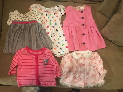 Baby lot dresses and cardigans