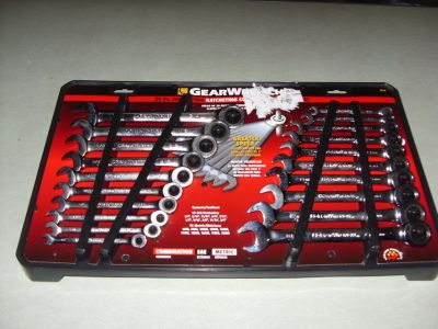 20 pc. gear set ratching wrenchs
