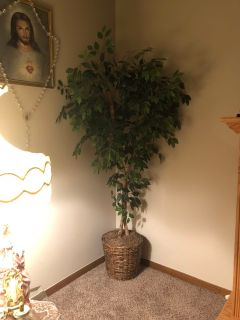 Nearly Natural 6 dogwood silk artificial tree