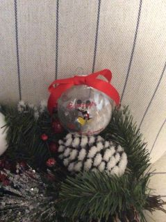 Personalized Mickey ornament