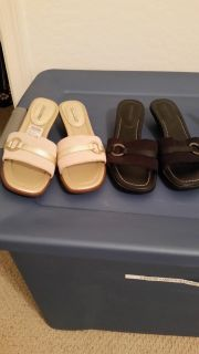 2 pairs women's Sandals Size 6 and 5.5 wide
