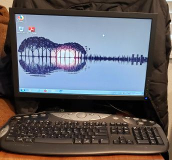 17 inch dell monitor, logitech wireless keyboard and wireless mouse