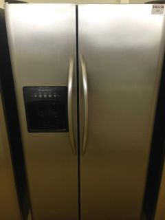 $499.99, 25 Cubic foot Stainless Steel Frigidaire Side by Side Refrigerator-i167