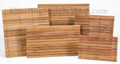 Bathroom and Shower Teak Wood Mat