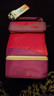 Brand new pink and purple insulated lunchbox $3