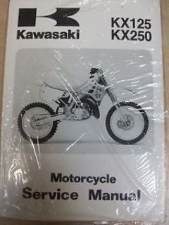 Sell NEW GENUINE OEM KAWASAKI KX 125 250 SERVICE REPAIR MANUAL 1990 1991 KX125 KX250 motorcycle in Ellington, Connecticut, United States, for US $38.00