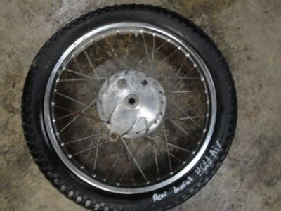 Find 74 1974 YAMAHA 125 ENDURO MOTORCYCLE BODY REAR WHEEL TIRE 3.25-18 motorcycle in Millville, Utah, United States, for US $85.39
