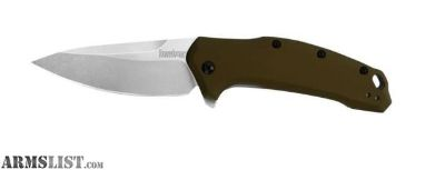 For Sale: Kershaw Exclusive Link Assisted 3.25in Stonewash Plain Bronze Handle 1776BRZSW
