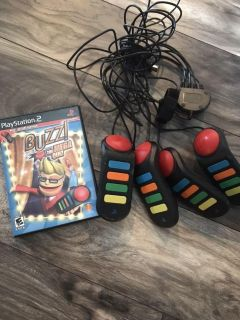 PlayStation 2 BUZZ w/ 4 controllers