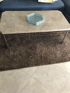 Set of 3 marble tables