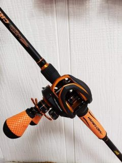 Lews Left Handed Mach Crush Fishing Rod Combo