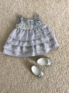 American Girl Doll Silver Shimmer Holiday Christmas Outfit