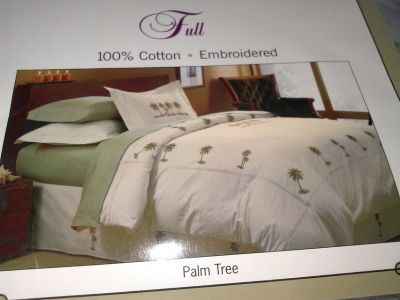 Palm Tree Duvet Kit for Full Bed
