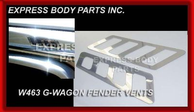 Sell MERCEDES W463 G G63 G500 G550 G55 SIDE FENDER VENT CHROME TRIM MOLDING PLATE NEW motorcycle in North Hollywood, California, US, for US $59.99