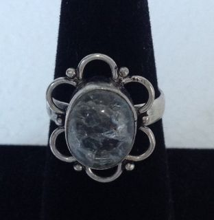 New! Sterling Silver 925 Ring with Clear sz 7