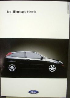 Sell 2001 Ford Focus Black United Kingdom England Sales Brochure motorcycle in Holts Summit, Missouri, United States, for US $19.49