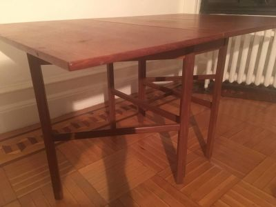 MCM Teak Dining Table with Two Foldout Leaves
