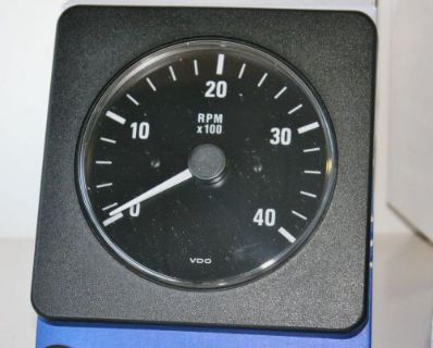 """Buy NEW VDO 333-219 D Black 4"""" Square 4000 RPM Tachometer Diesel IND Marine Boat motorcycle in Daytona Beach, Florida, United States, for US $99.99"""