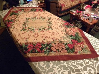 Cotton Holiday Table Cloth Cover