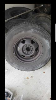"""15"""" painted steel wheels with A/T tires(Jeep TJ)"""
