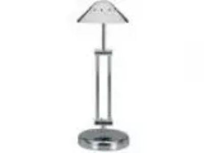 V-LIGHT Halogen Desk Lamp with -Point Adjustable Arm Black Chro