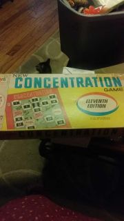 Concentration Board game vintage used condition.