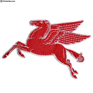 Vintage Embroidered Mobile Pegasus Sew On patch
