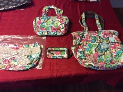 Thirty One purse, two skirts, wallet, bag and cosmetic bag set