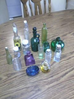 SMALL GLASS BOTTLE COLLECTION