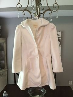 Girls winter coat sz 10/12 off white