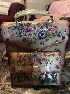 ***PATRICIA NASH***Prairie Rose Embroidery Simona Satchel & Wallet Set***