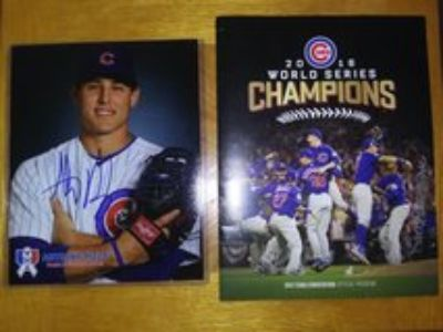 Chicago Cubs Rizzo and Edwards Jr. Autographs