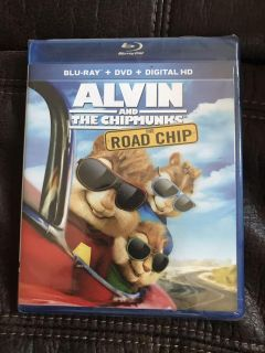 Brand New Blu Ray+DVD+DIGITAL HD Alvin and The Chipmunks The Road Chip
