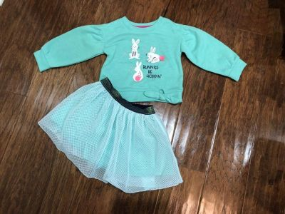 Brand New Cat & Jack 2T Bunny Outfit!!!!