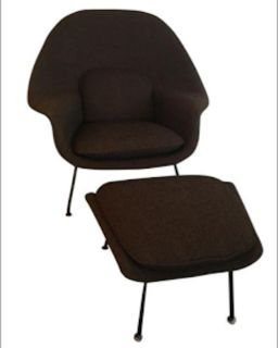 Mid-Century Modern Knoll Womb Chair and Ottoman