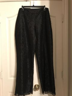 NWT- Fully Lined Lace Pants-Size 16