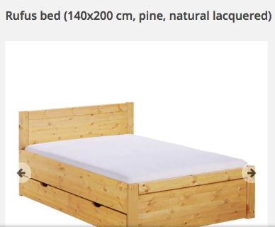 King Size Bed with Storage and mattress