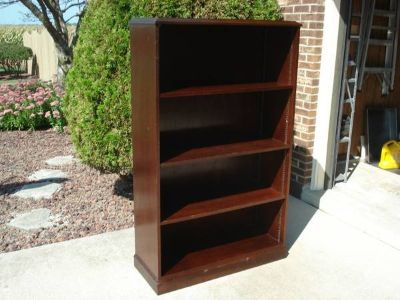ANTIQUE CHERRYWOOD UPRIGHT BOOKCASE