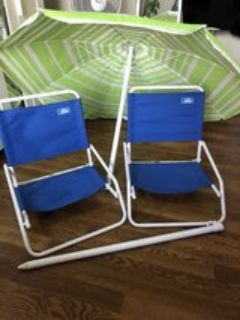Beach/Outdoor chairs with free beach umbrella
