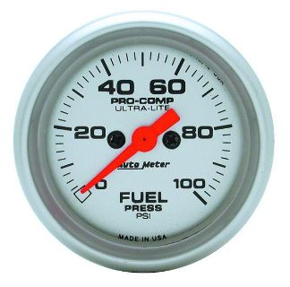 "Find Auto Meter 4363 Ultra Lite 2 1/16"" Electric Fuel Pressure Gauge 0-100 PSI motorcycle in Greenville, Wisconsin, US, for US $251.24"