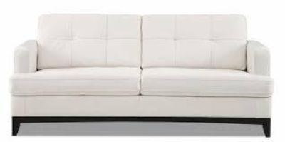 $800, Modern White Leather Sofa and Love Seat