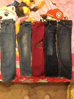 5 pairs of girls size 6 & 6x jeans