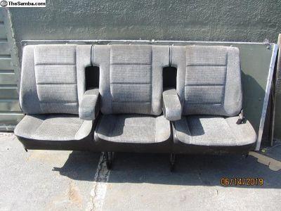 black vanagon back seat